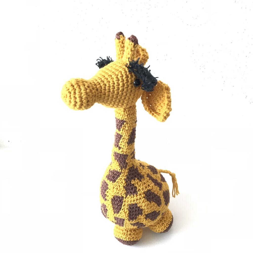 Hæklet giraf Gumle crochet giraffe